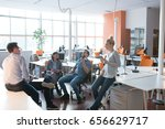 group of young business people... | Shutterstock . vector #656629717