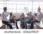 group of young business people... | Shutterstock . vector #656629819