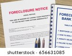Small photo of Foreclosure notice and foreclosure workshop cover page.