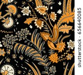 vector seamless floral pattern... | Shutterstock .eps vector #656640085