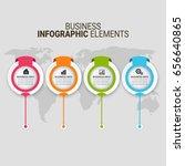 modern infographic paper... | Shutterstock .eps vector #656640865