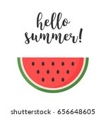 "watermelon with text ""hello... 