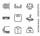 balance icons set. set of 9... | Shutterstock .eps vector #656651941