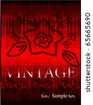 vector vintage design | Shutterstock .eps vector #65665690