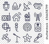 radio icons set. set of 16... | Shutterstock .eps vector #656658799