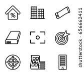center icons set. set of 9... | Shutterstock .eps vector #656662411