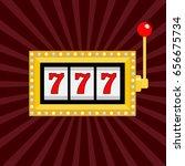 slot machine. golden color... | Shutterstock . vector #656675734