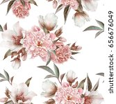 floral seamless pattern with... | Shutterstock . vector #656676049