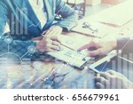business meeting time. working... | Shutterstock . vector #656679961