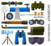 camera lens and binoculars... | Shutterstock .eps vector #656680144