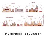 business city in england.... | Shutterstock .eps vector #656683657