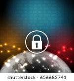 cyber security and information... | Shutterstock .eps vector #656683741