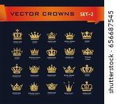 vector collection of creative... | Shutterstock .eps vector #656687545