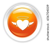 love heart angel icon | Shutterstock .eps vector #656704039