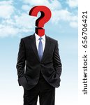 business man with question mark ... | Shutterstock . vector #656706421