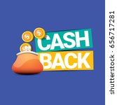 vector cash back icon with... | Shutterstock .eps vector #656717281