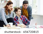 group of college students... | Shutterstock . vector #656720815