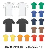 blank colored t shirt template | Shutterstock .eps vector #656722774
