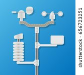 weather station equipment for... | Shutterstock .eps vector #656723251