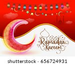 illustration of ramadan kareem... | Shutterstock .eps vector #656724931