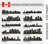 canada skyline city silhouette... | Shutterstock .eps vector #656746669