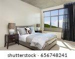 comfortable modern bedroom with ... | Shutterstock . vector #656748241