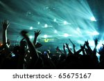 a dj performing at a disco rave | Shutterstock . vector #65675167