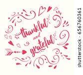 handwritten vector lettering... | Shutterstock .eps vector #656760361