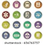 emergency vector icons for user ... | Shutterstock .eps vector #656763757