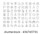 set line icons  sign and... | Shutterstock . vector #656765731