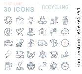set line icons in flat design... | Shutterstock . vector #656765791