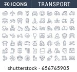 set line icons in flat design... | Shutterstock . vector #656765905