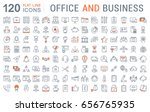 set line icons in flat design... | Shutterstock . vector #656765935