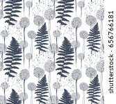 vector seamless pattern with... | Shutterstock .eps vector #656766181