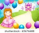 party invitation featuring a... | Shutterstock .eps vector #65676688