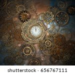Rusty Steampunk Background Wit...