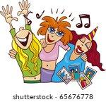 illustration of women on ladies ... | Shutterstock . vector #65676778