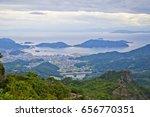 view top of shodoshima island ... | Shutterstock . vector #656770351