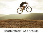 side view of man in sportswear... | Shutterstock . vector #656776831