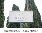 Via Serapide  Roman Street Sign ...