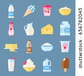 dairy products or milk set ... | Shutterstock .eps vector #656782045