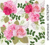 seamless floral pattern with... | Shutterstock .eps vector #656782939