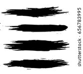 vector set of black brush... | Shutterstock .eps vector #656783995