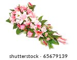 composition of lilies and roses ... | Shutterstock . vector #65679139