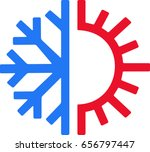 heating and cooling icon   Shutterstock .eps vector #656797447