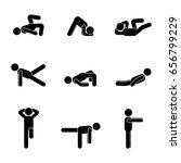 exercises body workout... | Shutterstock .eps vector #656799229