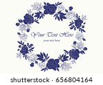 card vector flowers flower | Shutterstock .eps vector #656804164