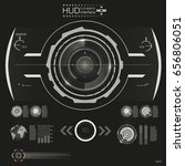 abstract hud. futuristic sci fi ... | Shutterstock .eps vector #656806051