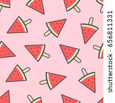 fresh watermelon with hand... | Shutterstock .eps vector #656811331