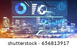 virtual panel with graphs and... | Shutterstock . vector #656813917